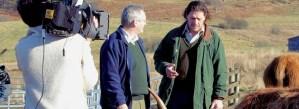 Bill Cassells and Marco Pierre White on Balnafettach Farm
