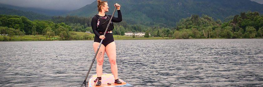 woman-paddleboarding-on-loch-achray