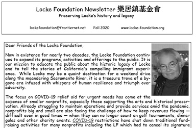 2020 LF newsletter Fall 2020 cover