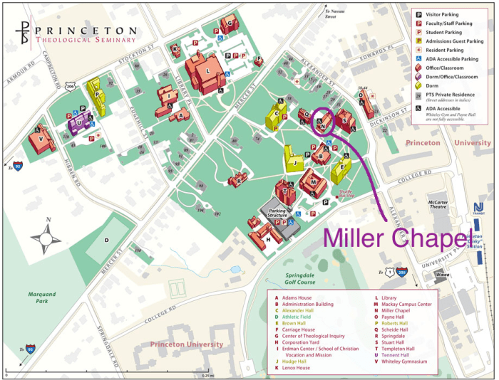 PTS map showing Miller Chapel