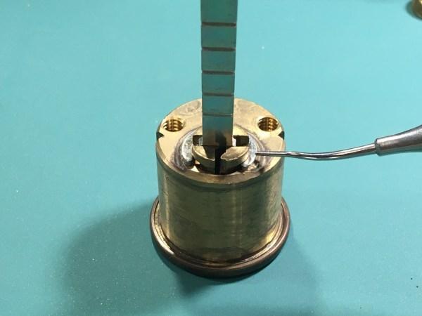 Cylinder clip on a rim cylinder.