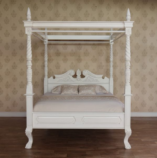 mahogany four poster canopy bed b021p