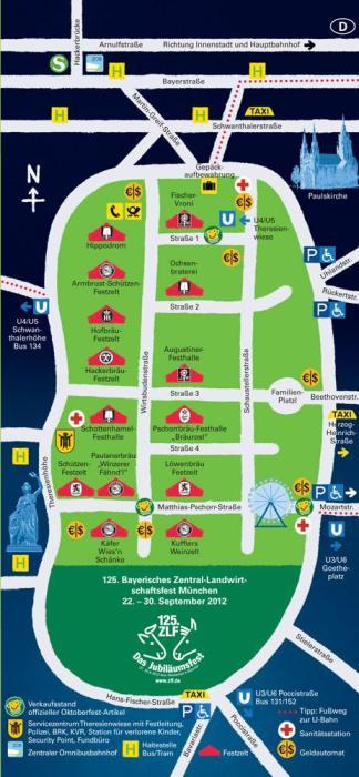 Plano del Oktoberfest de 2012