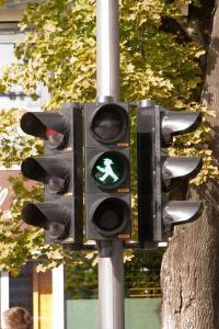 Semáforo de la zona oriental de Berlín
