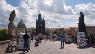 Entre Staré Město y Malá Strana de Praga