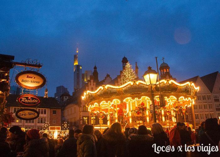Tiovivo en el Mercado de Navidad de Frákfurt