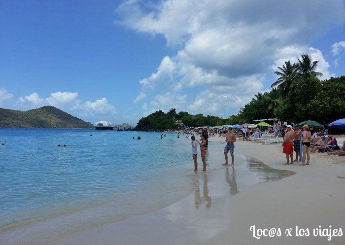 Coki Beach en la isla de Saint Thomas