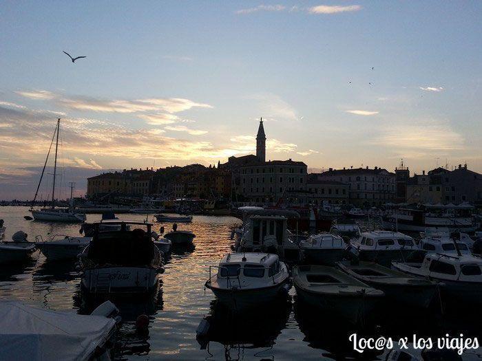Atardecer en Rovinj, Croacia