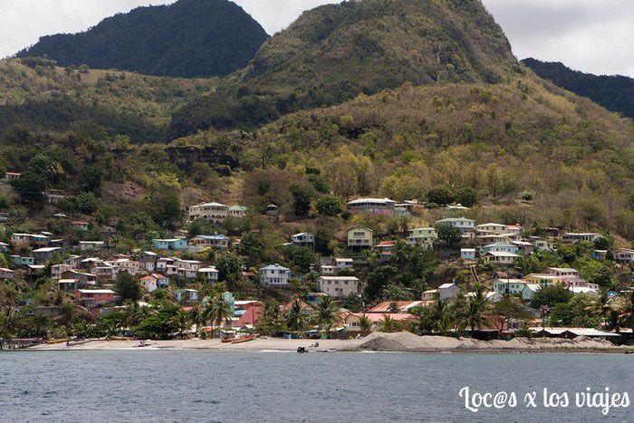 Santa Lucía desde el catamarán