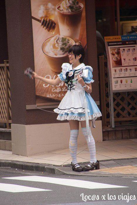 Trabajadora de un Maid Cafe