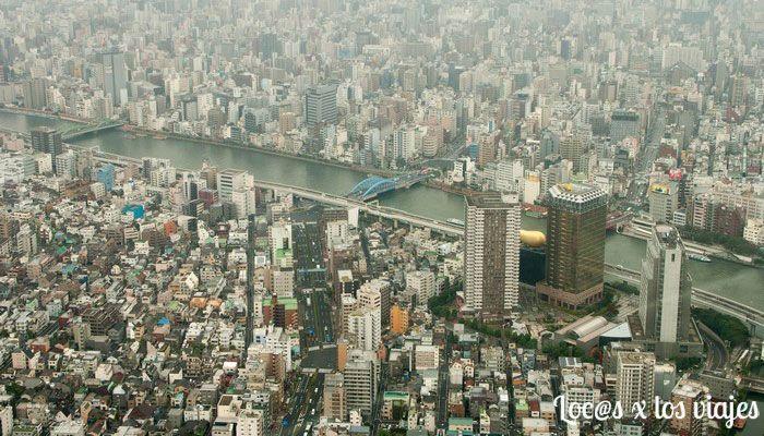 Vistas desde la Tokyo Sky Tree