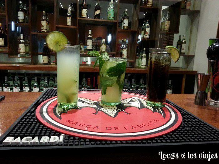 Daiquiri, Mojito y Cuba Libre hechos con Bacardí