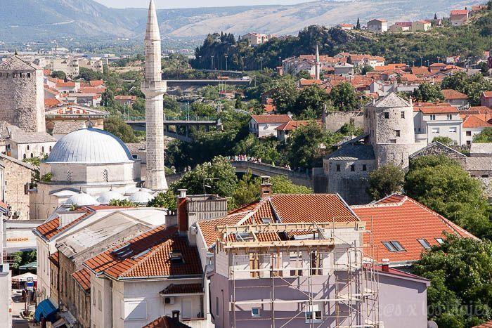 Mostar vista desde el minarete de la Mezquita Karadjoz-Bey