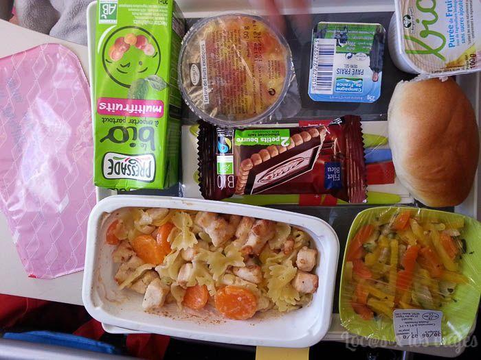 Rumbo a California: comida en el avión