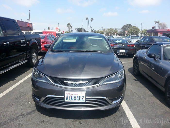 Rumbo a California: nuestro coche de alquiler