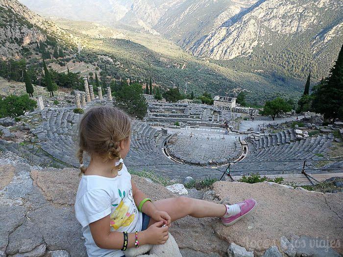 Guía de Grecia con niños: En Delfos