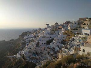 Grecia con niños: Atardecer en Oia