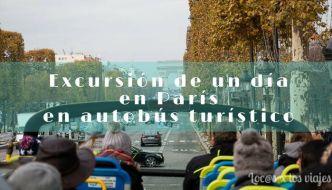 Excursión de un día en París en autobús turístico desde Disneyland