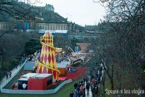 Edimburgo con niños: Mercado de Navidad