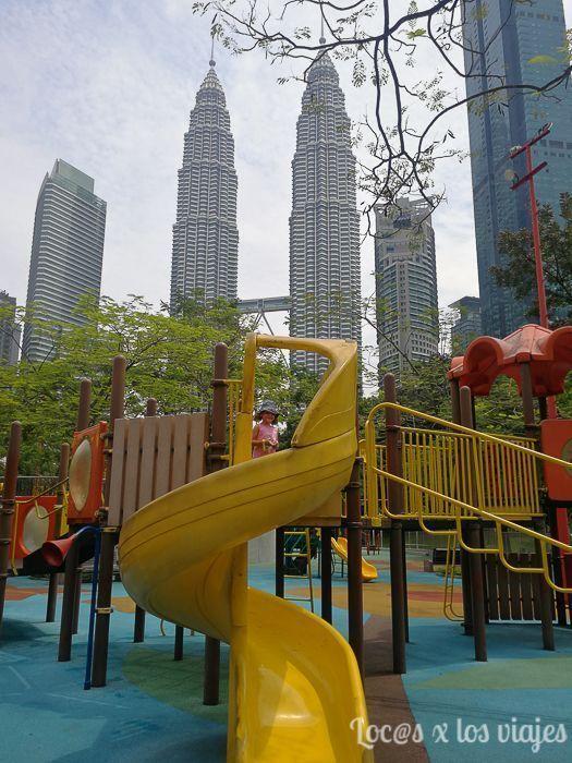 Un parque con vistas en Kuala Lumpur