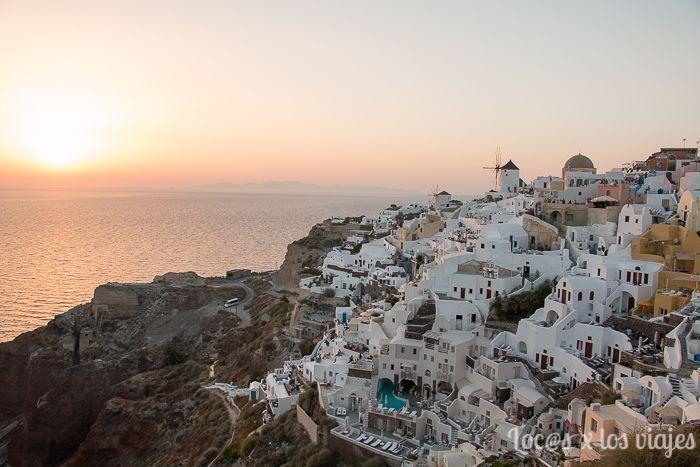 Santorini: Atardecer en el Kastel de Oia