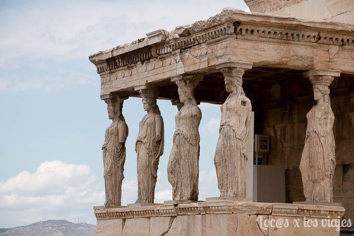 Atenas: las Cariátides en la Acrópolis