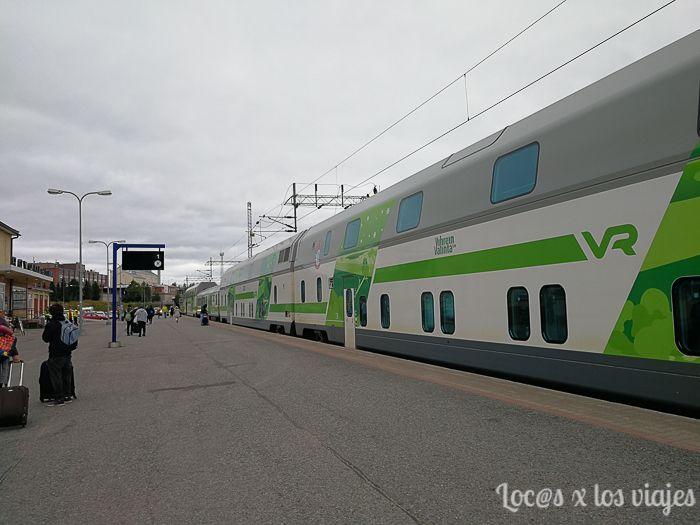 Tren nocturno a Rovaniemi
