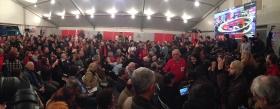 Syriza-supporters wachten de eerste peilingen a