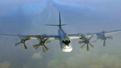 De Russische beer in de vorm van de Tupolev TU-95 'Bear' Bomber