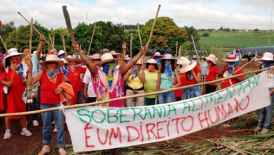 Beweging van landloze boerenin Brazilië: voedselsoevereiniteit is een mensenrecht