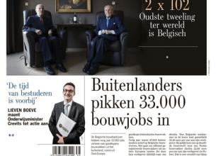 Titel in de standaard: Buitenlanders pikken 33.000 bouwjobs in
