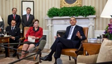 Barack Obama en Dilma Roussef in betere tijden