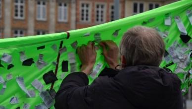 Schone Kleren Campagne België voerde 24 meiactie om haar eisen kracht bij te zetten