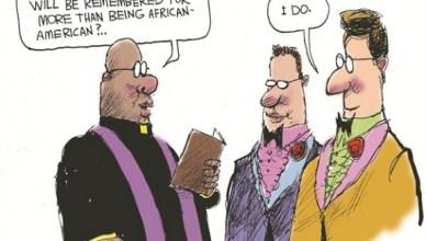 ... en denkt u dat Obama zal herinnerd worden voor meer dan dat hij 'African-American' was? Ja. (in het Engels zeg je 'I do' bij het huwelijk)