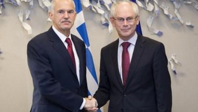 Papandreou ontmoet Van Rompuy