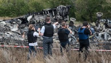 OVSE-waarnemers op de MH17-crashsite