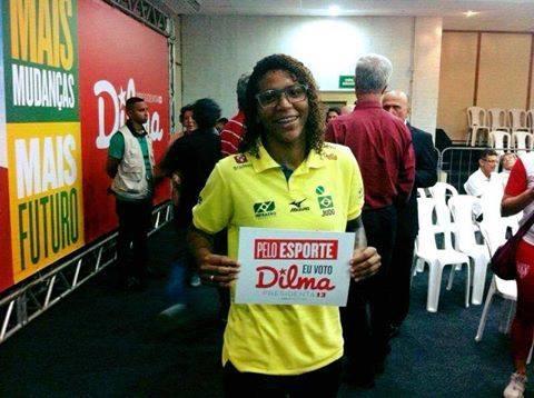 Rafaela Silva stemt voor Dilma