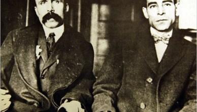 Sacco en Vanzetti tijdens hun proces