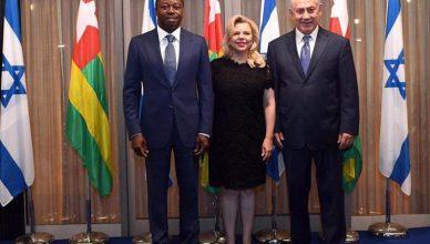 President Fauré Gnassingbé van Togo op bezoek bij eerste minister Benjamin Netanyahu van Israël
