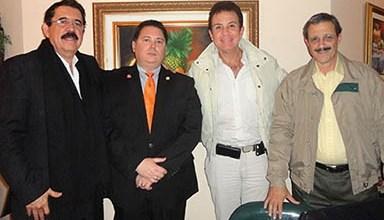 Manuel Zelaya en Salvador Nasralla