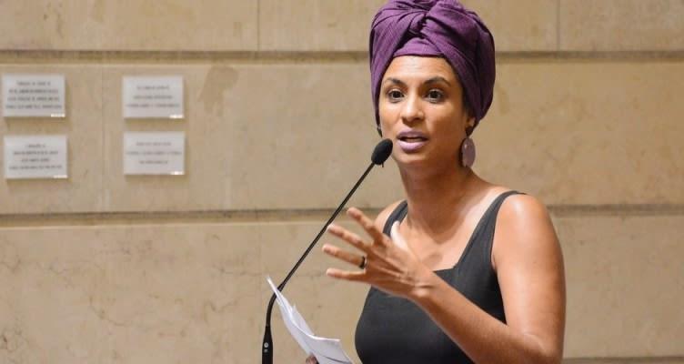 Marielle Franco tijdens een zitting van de gemeenteraad van Rio