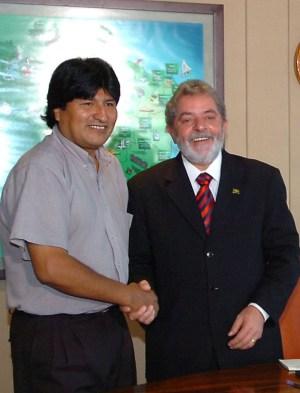 Morales met Lula in 2006