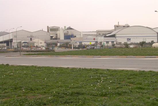 La fábrica de Timac Agro en Lodosa. Antigua Inabonos