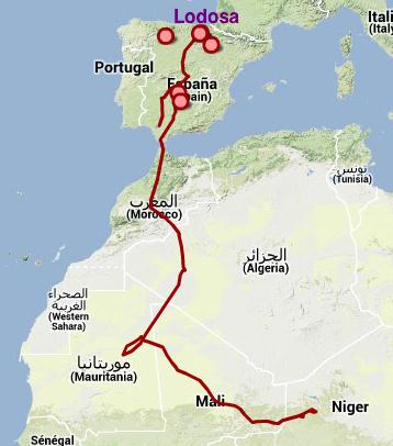 Migración de las cigüeñas en Agosto de 2013