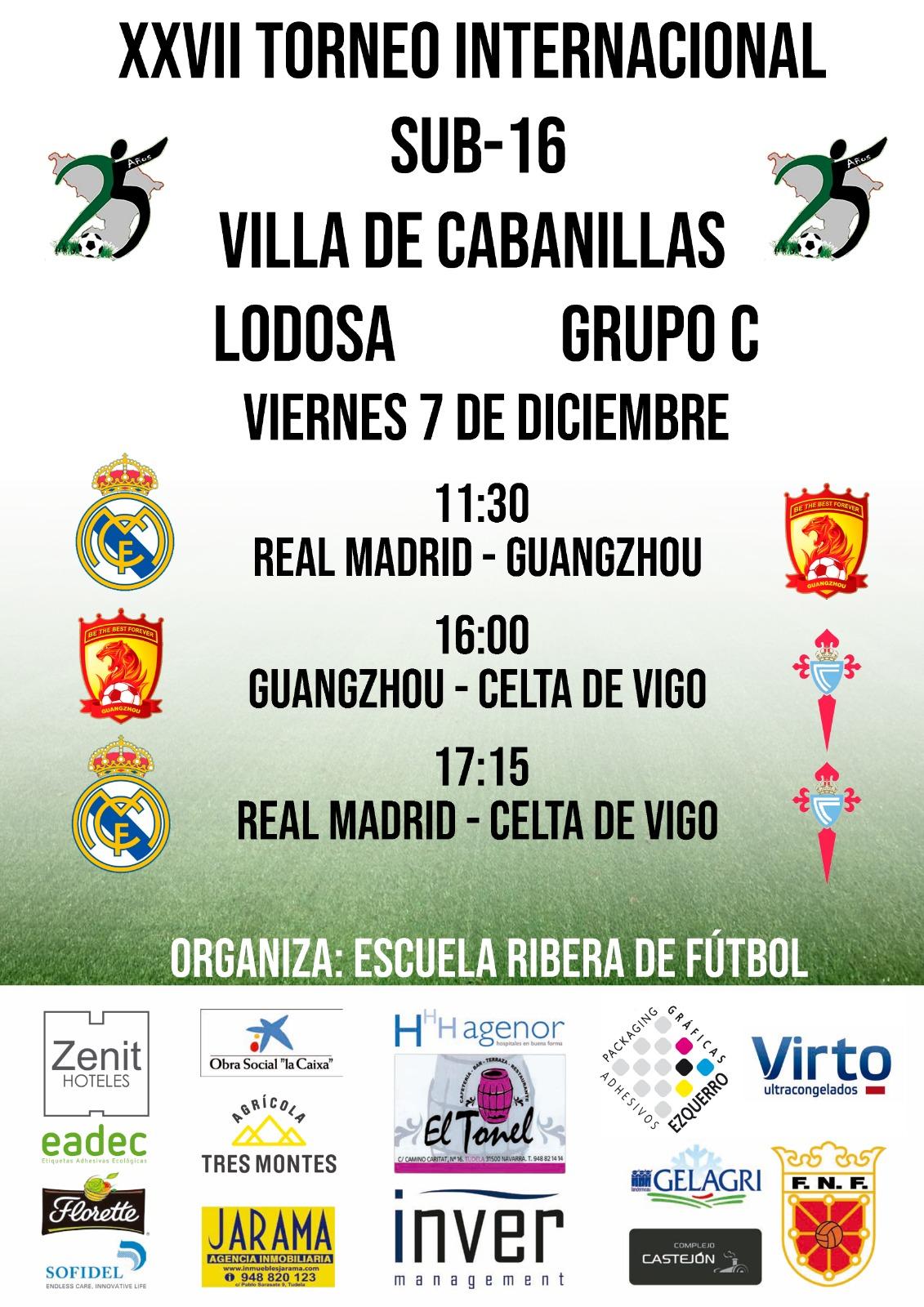 Xxvii Torneo Internacional Fútbol Sub 16 Villa De Cabanillas Grupo