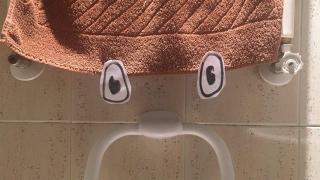 ¿Un caballero en el toallero?