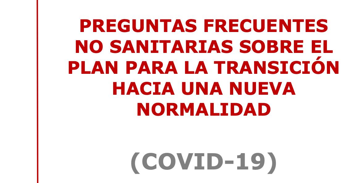 Respuesta a las dudas sobre cuestiones no sanitarias relacionadas con la desescalada (12/05/2020)