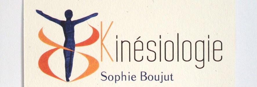 Carte de visite kinésiologie pour Sophie Boujut