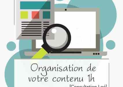 [Consultation Loé] Organisation de votre contenu 1h