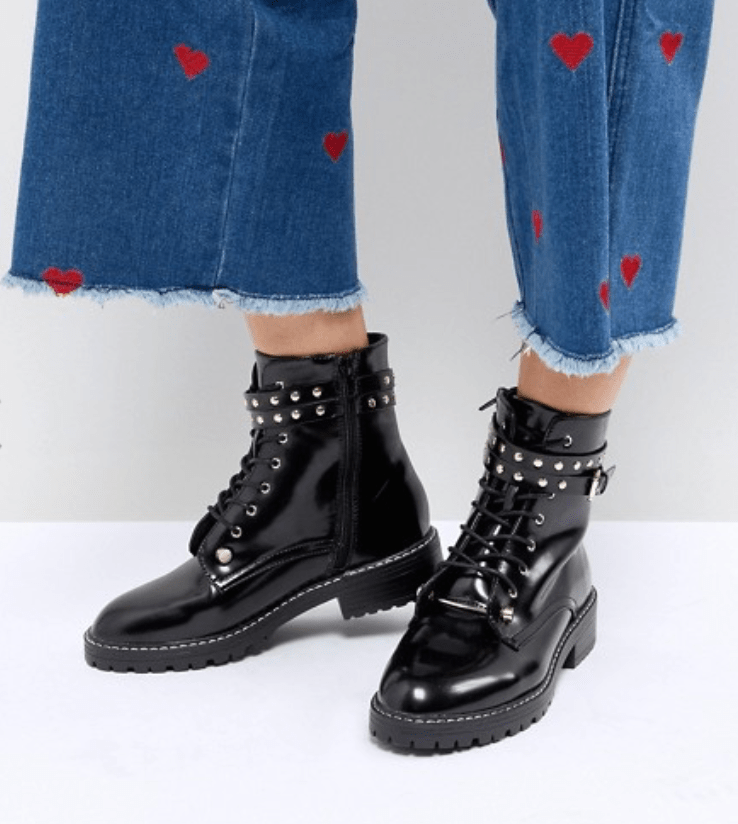 Pimkie - Bottines motard cloutées